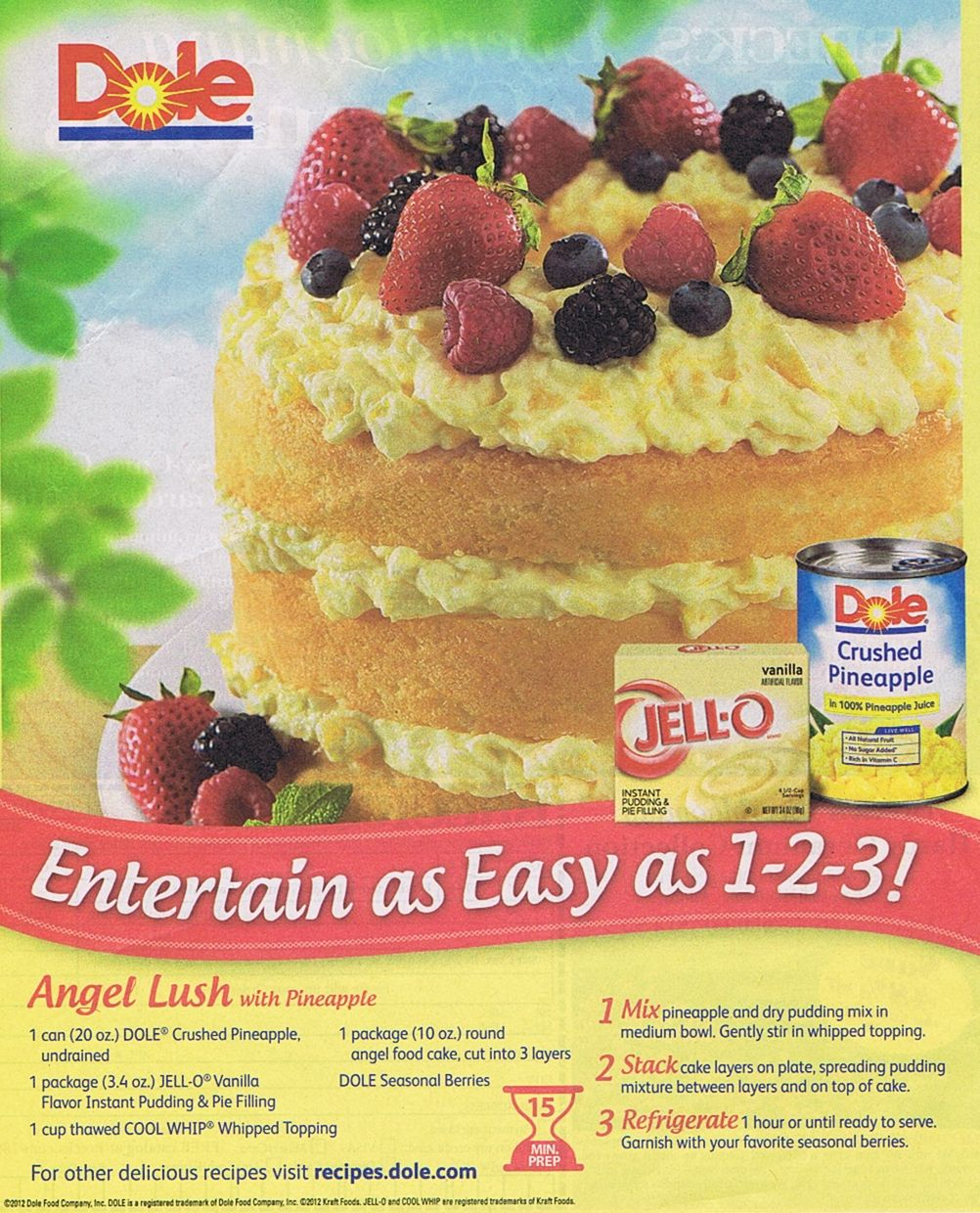 dole pineapple angel food cake
