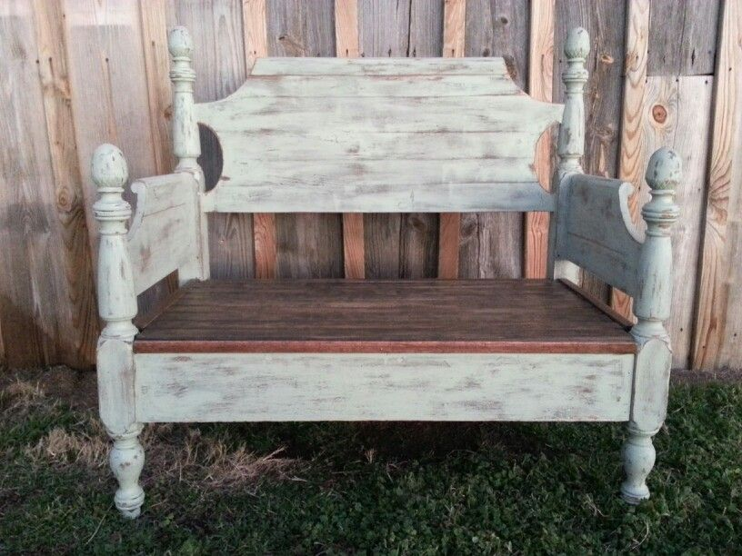 Bench From Headboard Footboard To Do List Pinterest