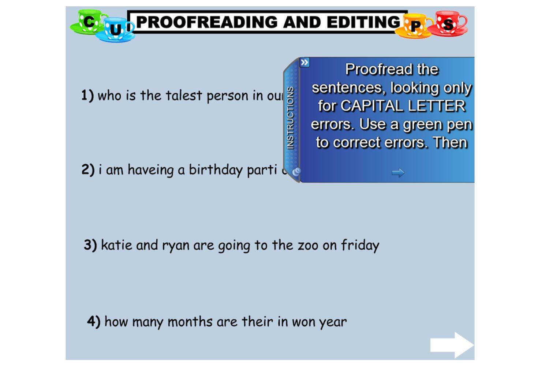 proofread edit