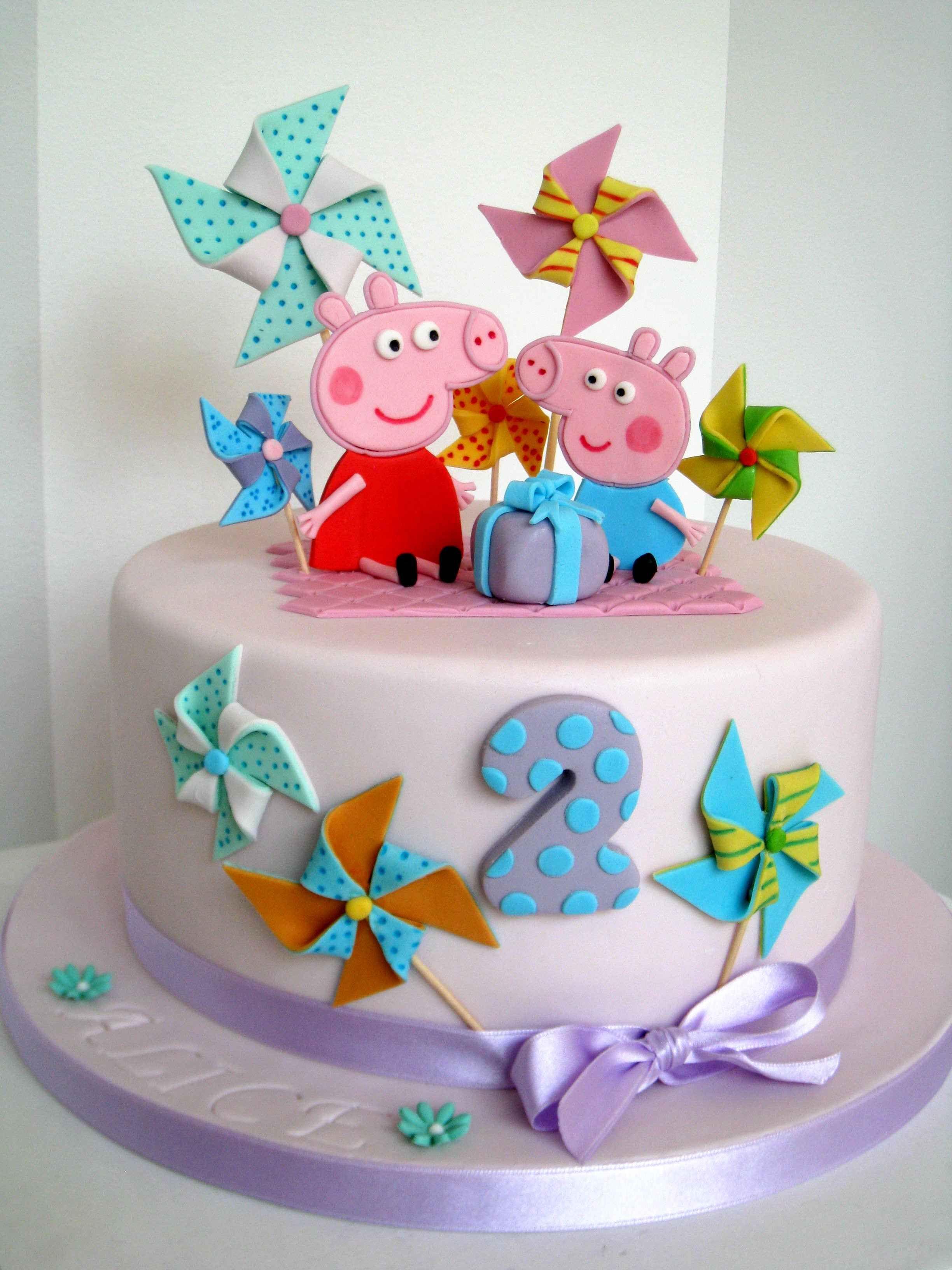 Детский торт своими руками. Торт со свинкой Пеппой 99