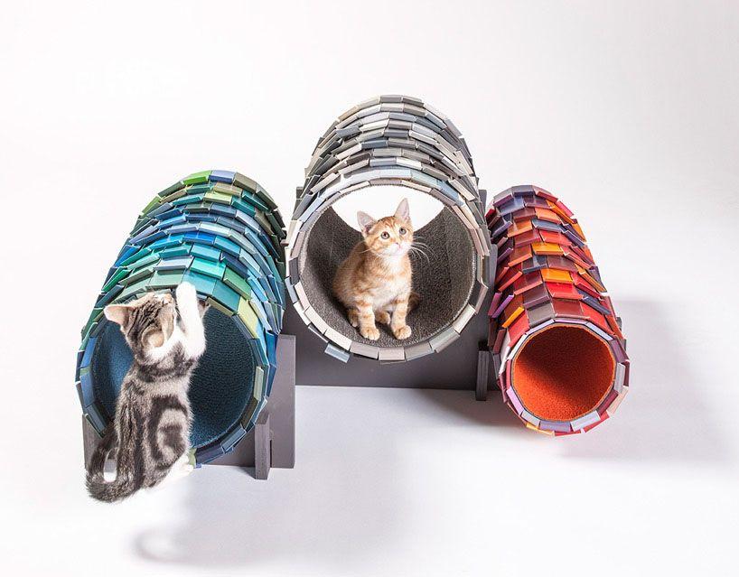Nhà hình ống tròn với những họa tiết đa dạng cho thú yêu tha hồ vui chơi