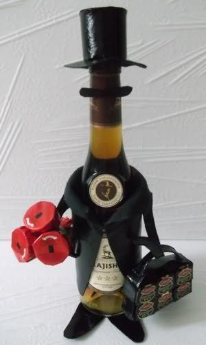 Как украсить бутылку водки для мужчины 124