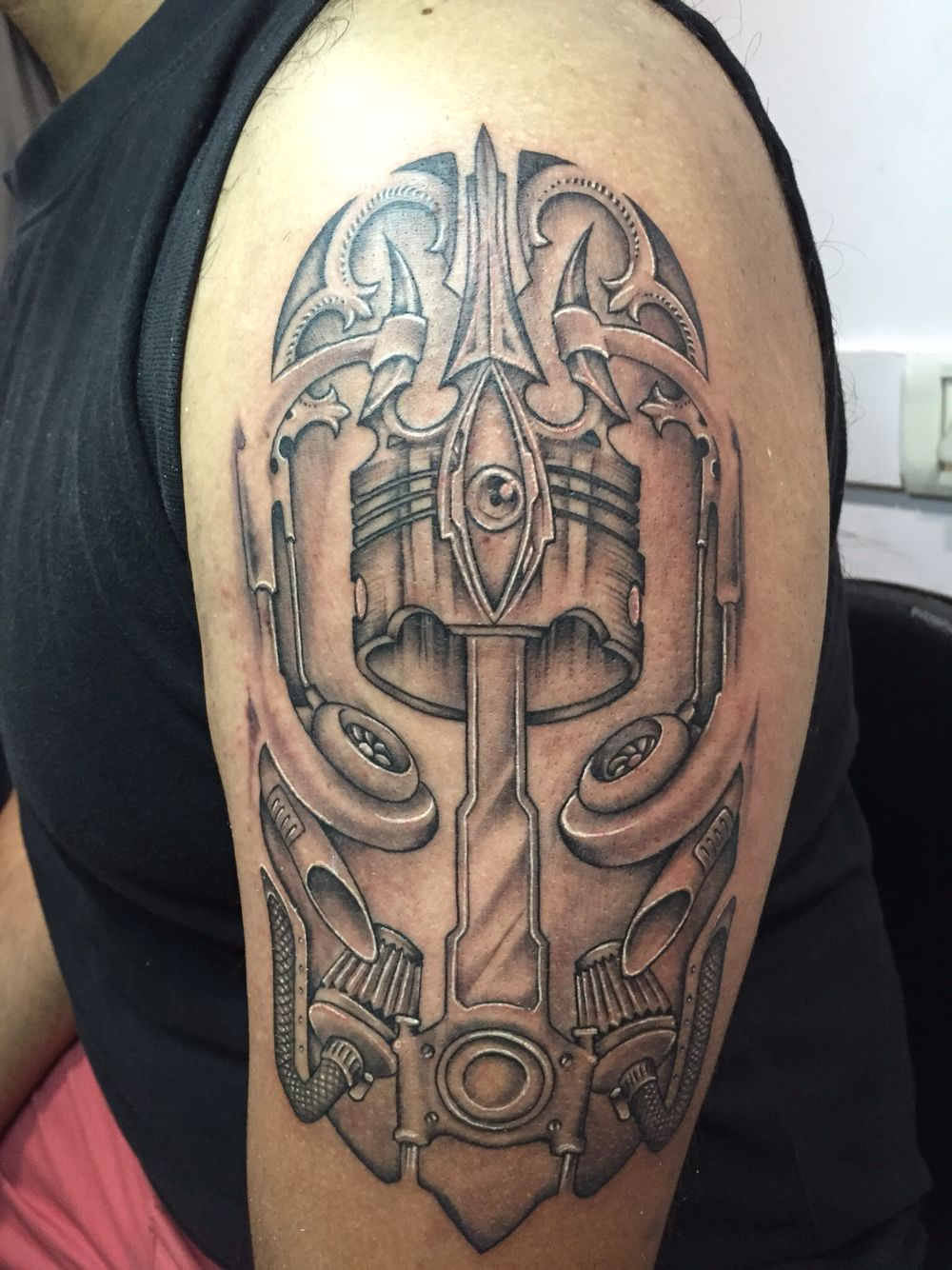 Mechanic wrench tattoo