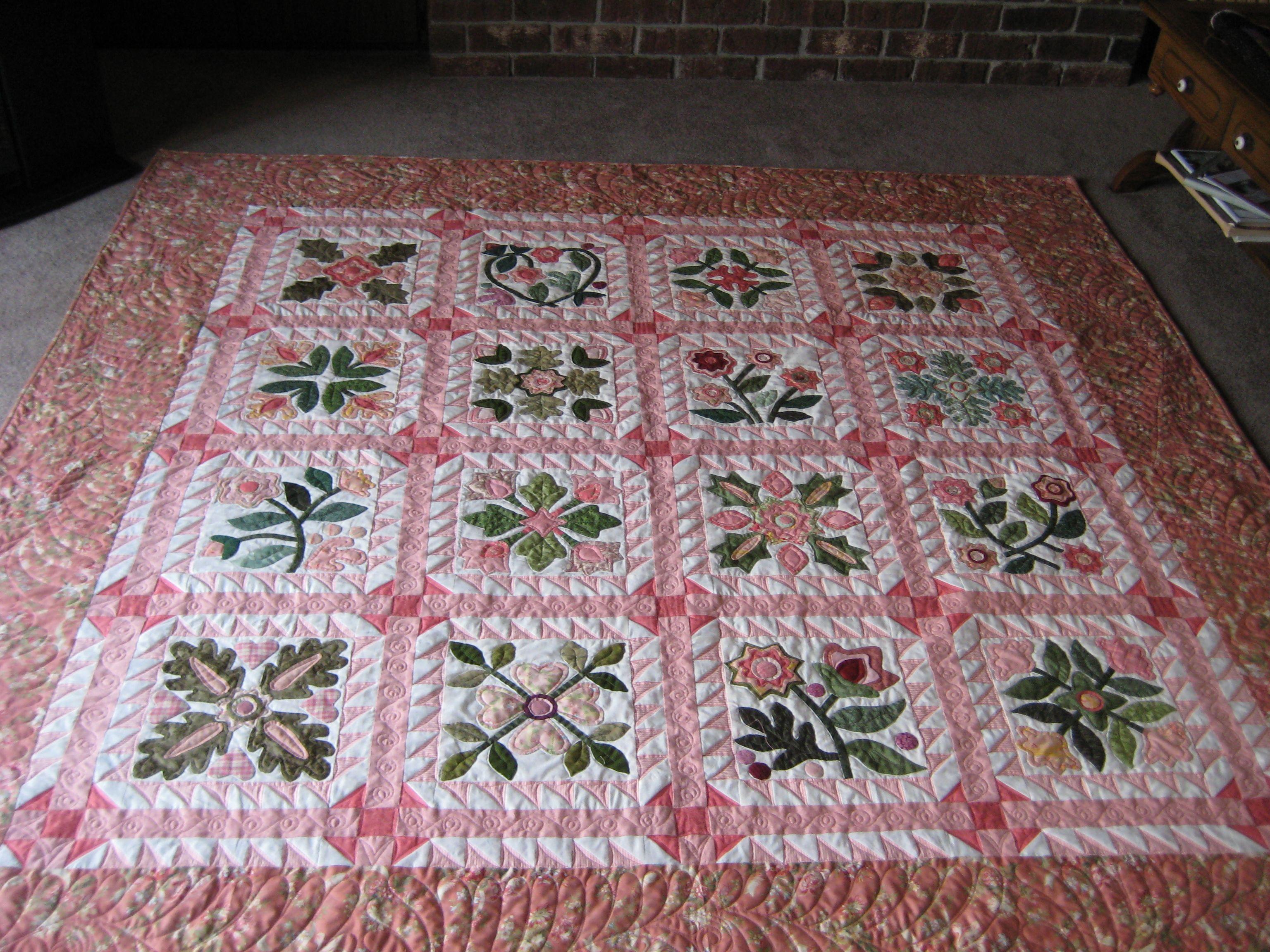 Applique quilt | Quilts I've made | Pinterest