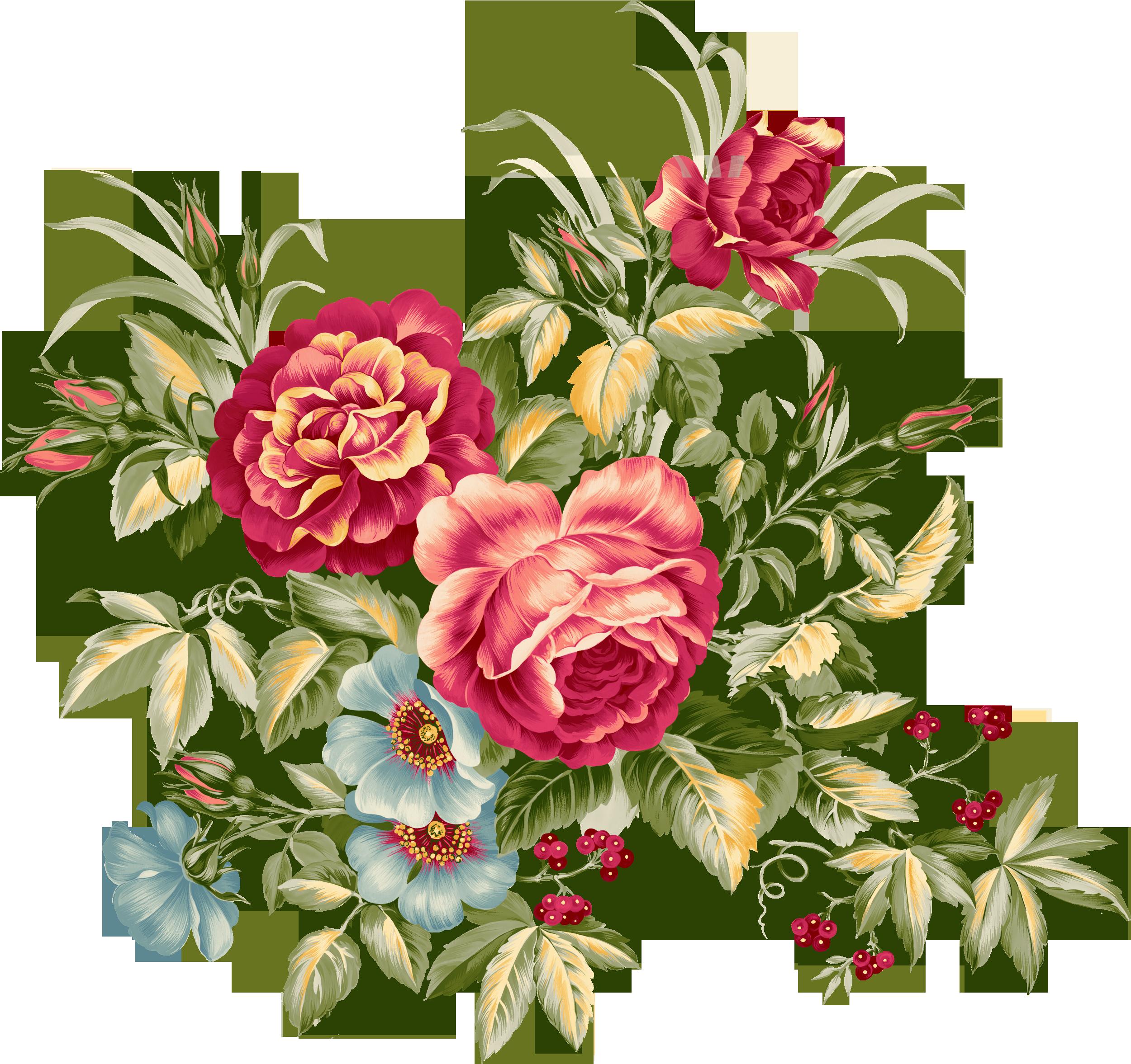 Красивые цветы букеты нарисованные
