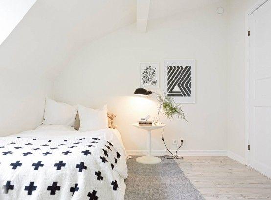 Phòng ngủ với gam trắng tạo cảm giác nhẹ nhàng, thư giãn
