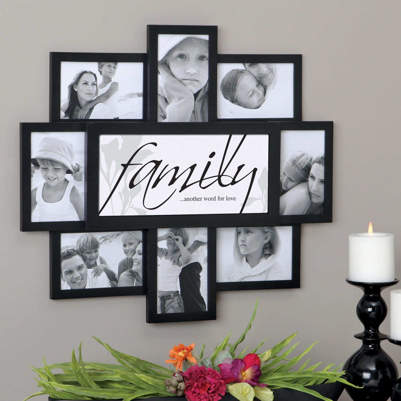 Family photo frame collage ideas Disney Family Recipes, Crafts and Activities