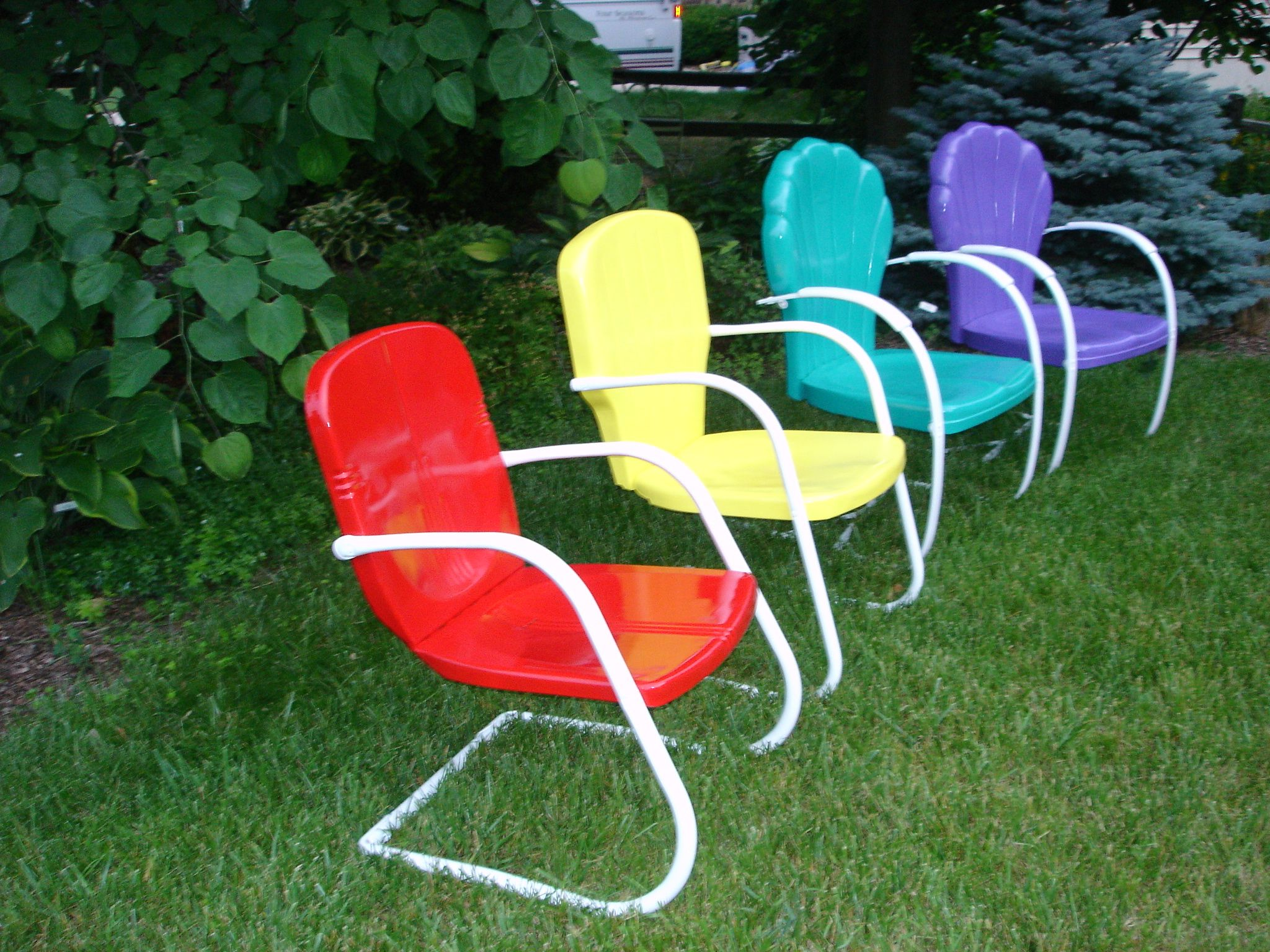 fresh paint vintage metal lawn chairs The farm