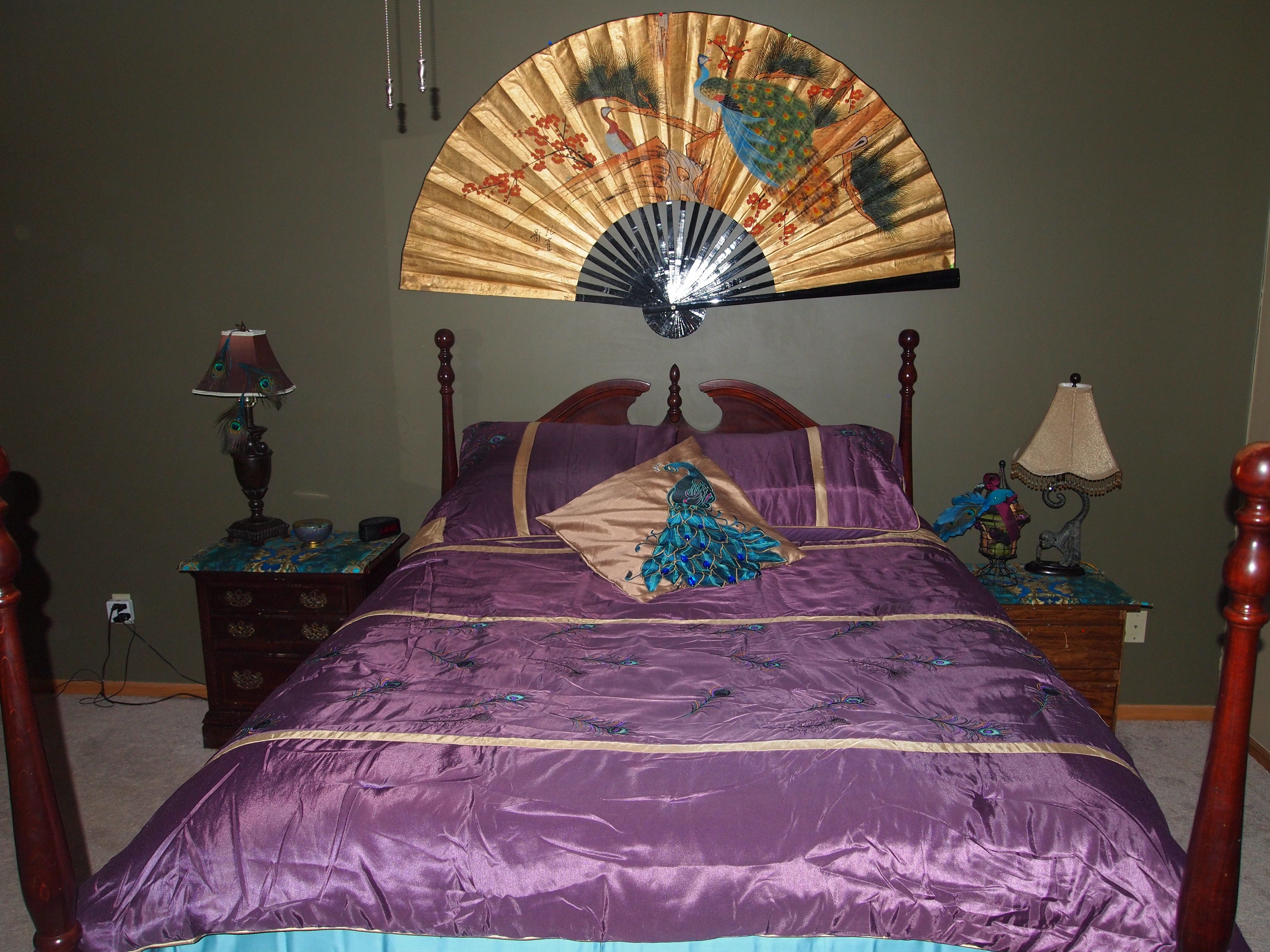 peacock bedroom for the home pinterest