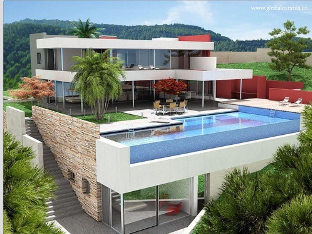 Piscina so ada casas increibles pinterest for Casa con piscina