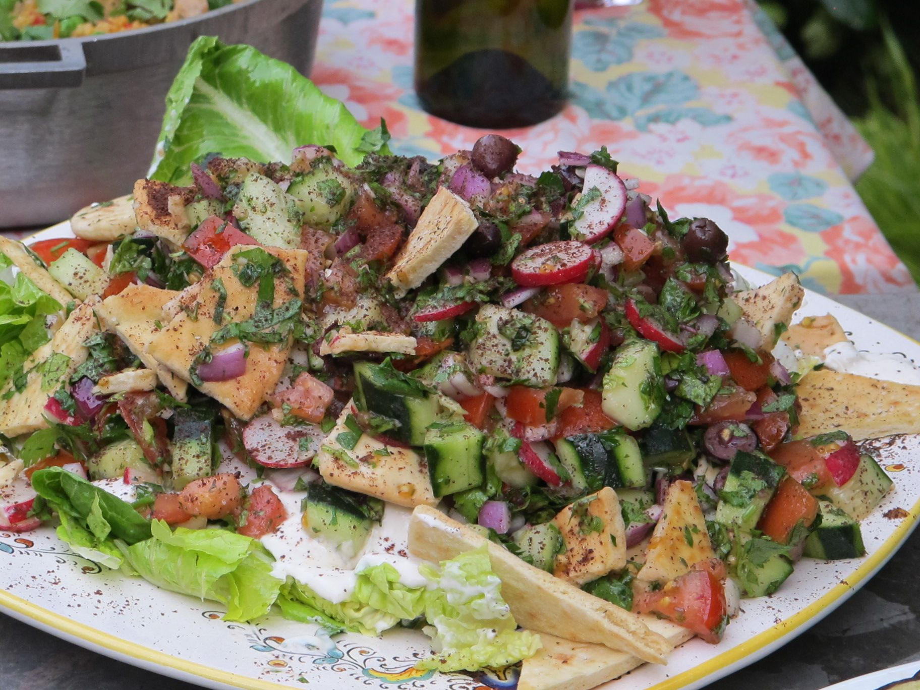 "Fattoush Salad...syrian style | ""The Foodie Zone"" 