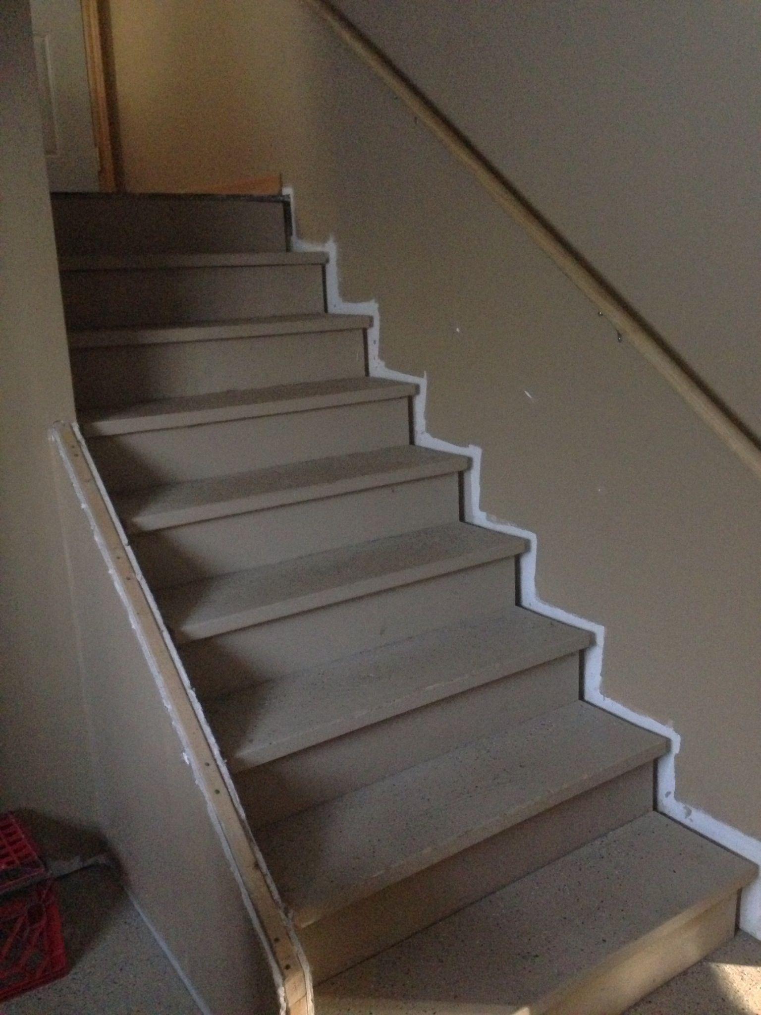 finish basement stairs finishing the basement pinterest