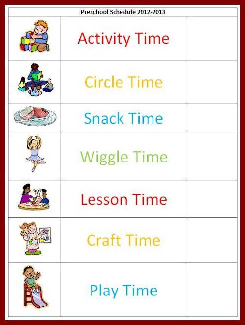 preschool schedule template - Tempss.co-lab.co