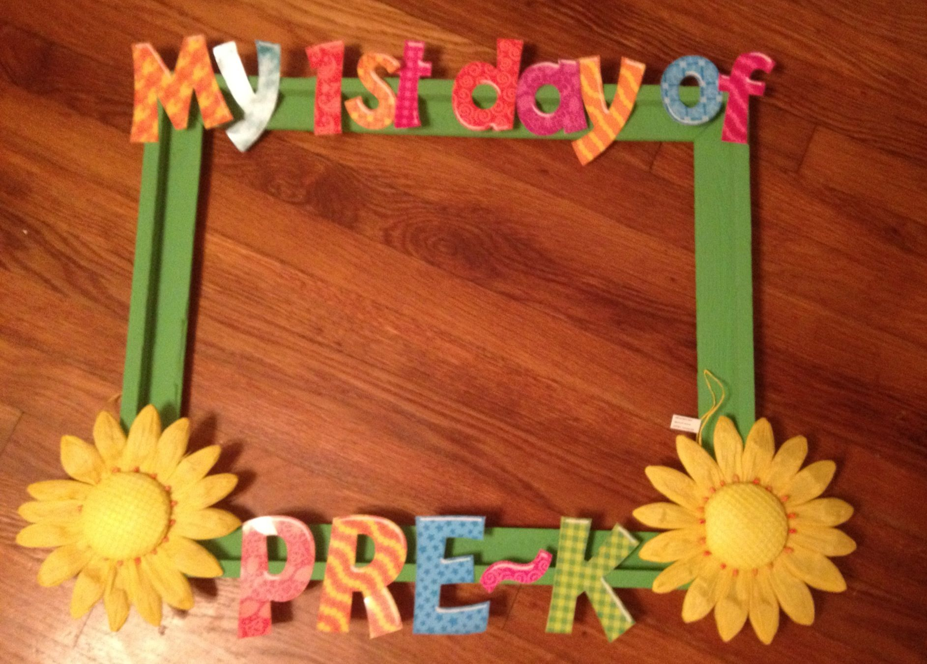 First day of pre k frame perfect classroom ideas pinterest