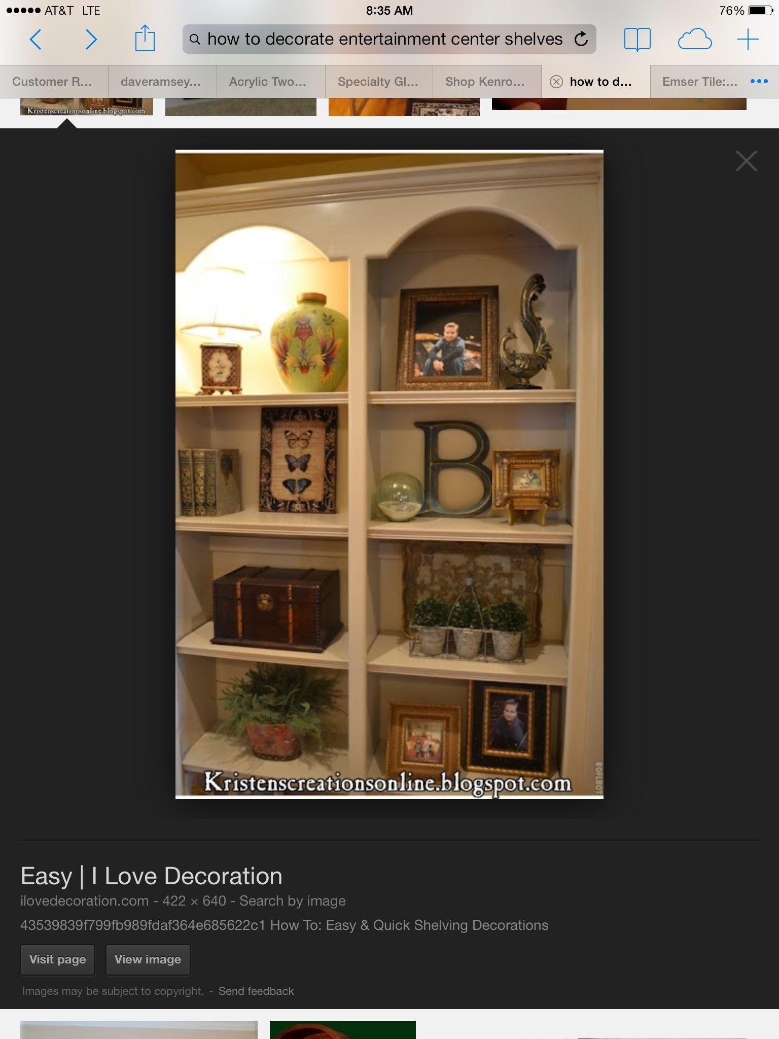 Entertainment Center Decorating Ideas HOME Pinterest