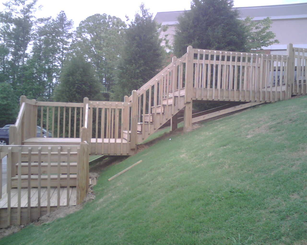 Ideas For A Steep Backyard : Need that for our backyards steep hill!  Home Ideas  Pinterest