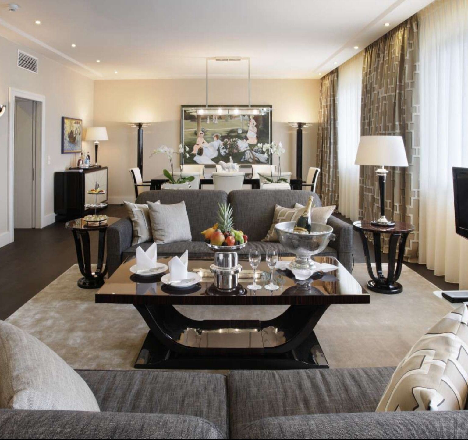 Trends Chic Living Room Ideas Icy Stylish Christmas Living Room