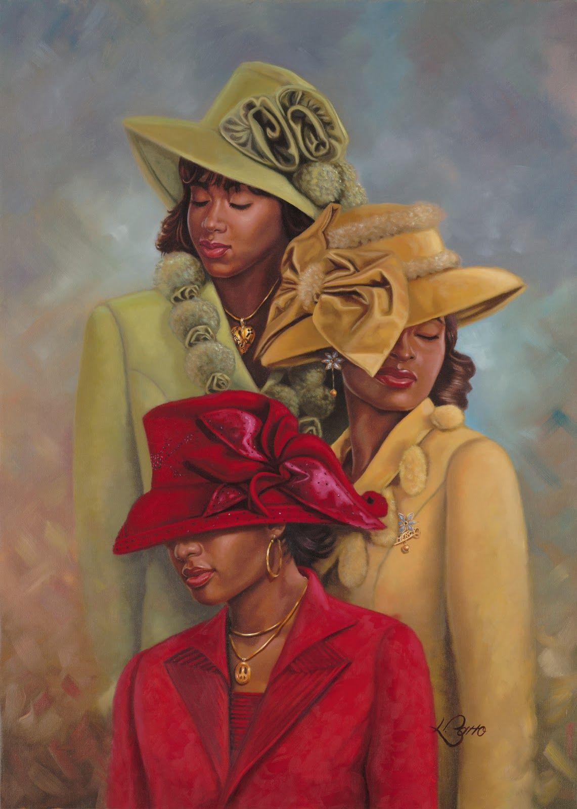 Free Clipart Black Women Wearing Hats Church Ladies | ...