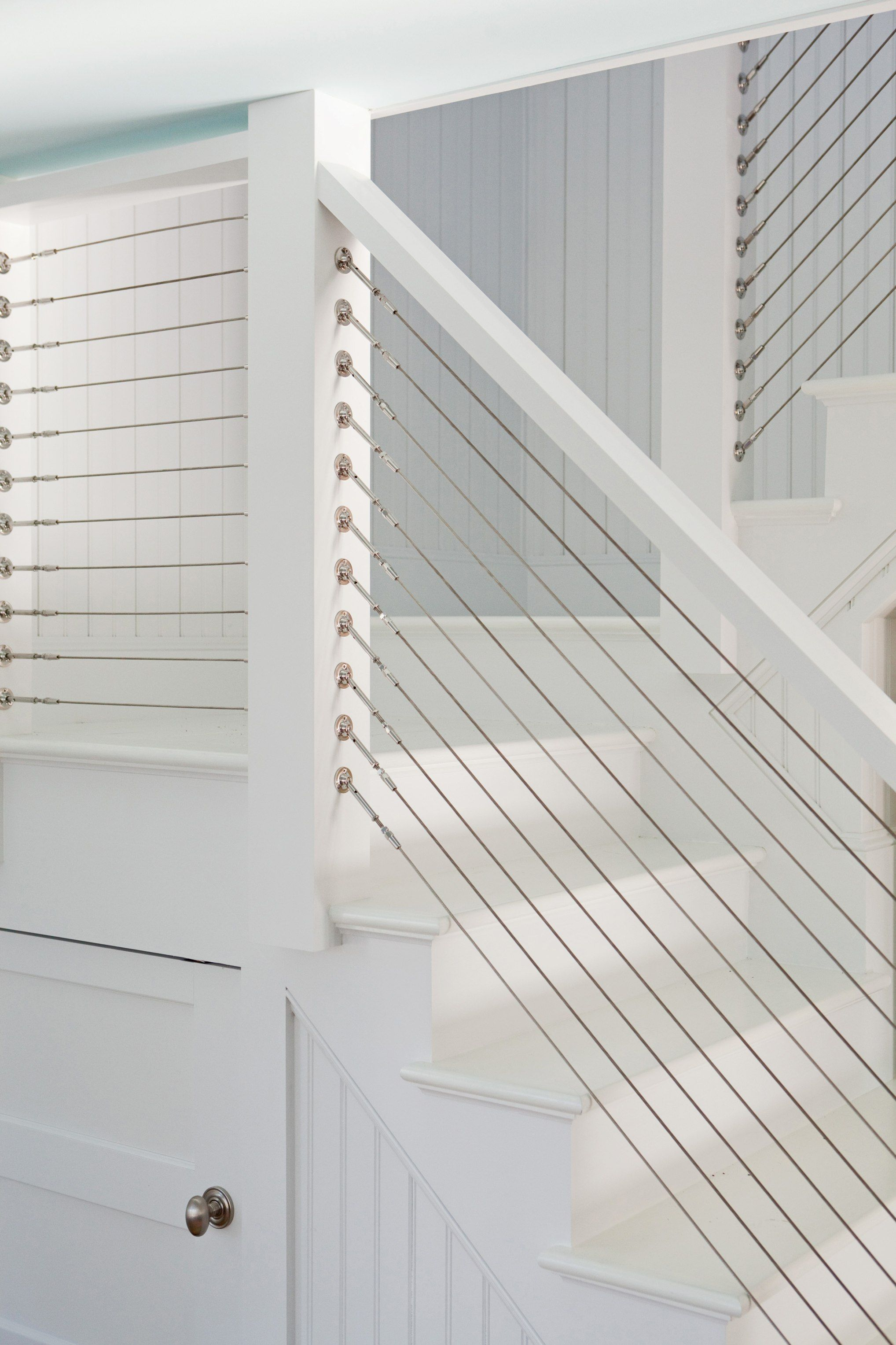 Custom Built Cable Stair Railing Home Inspiration