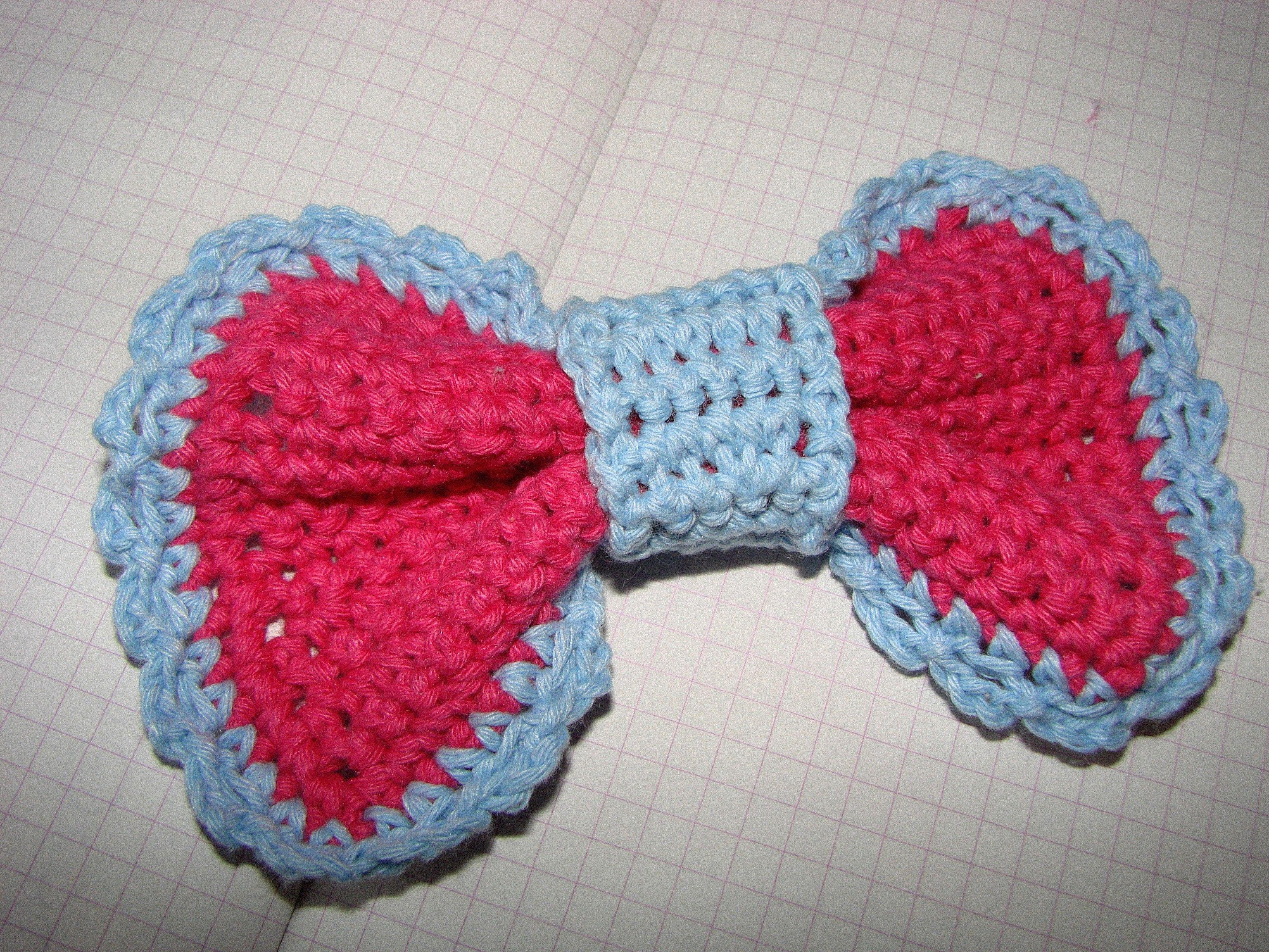 Crochet Bow : Crochet bow. Crochet bow Pinterest