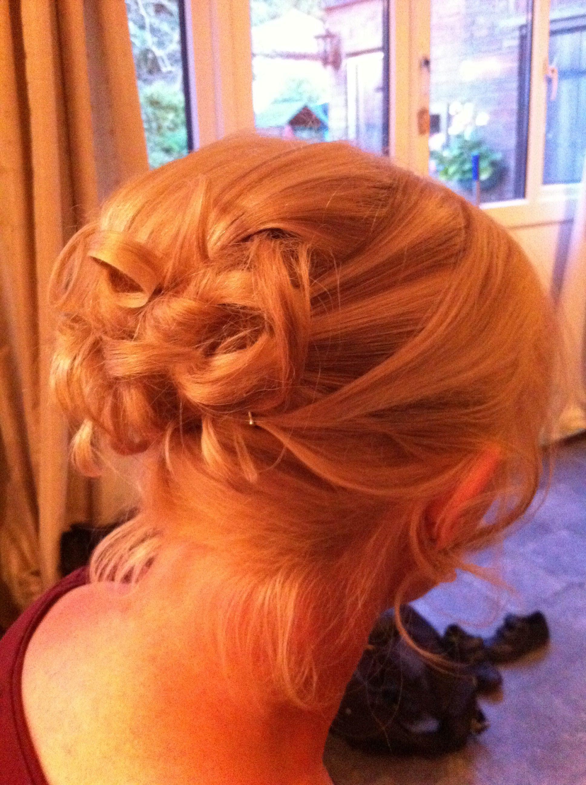 Barrel Curls Wedding Hair