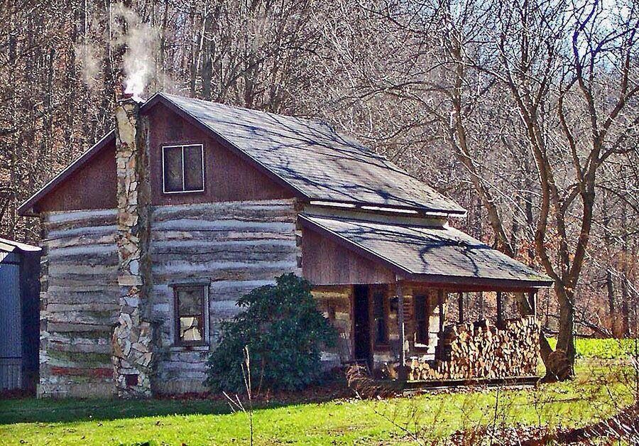 Log Cabin In The Woods LOG CABINS FARM HOUSES BEAUTIFUL