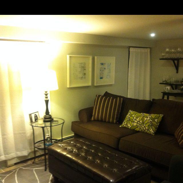 Brown An Gray Basement Living Room Decorate Pinterest