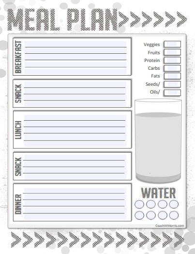 Daily Meal Planner - Calendar Examples