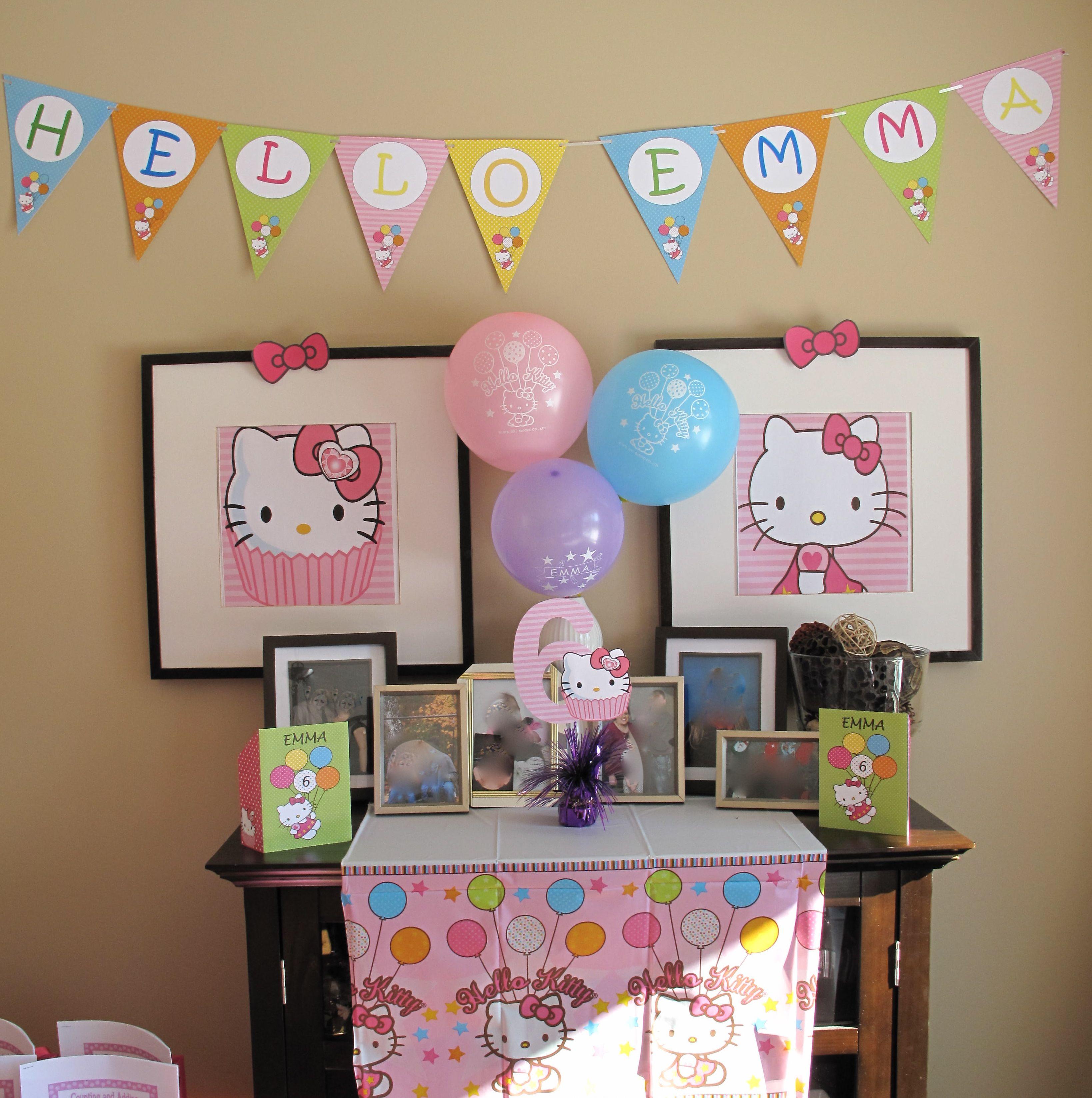 Hello kitty birthday party decorations lydias first birthday pint