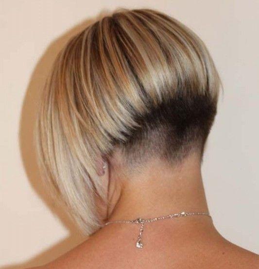 Женские стрижки вид с зади