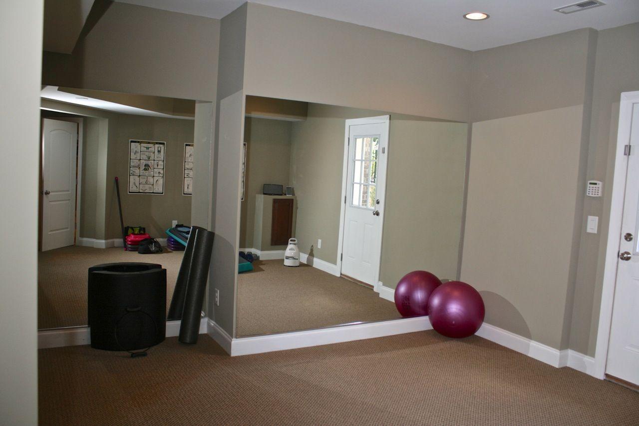 exercise room in basement home ideas pinterest