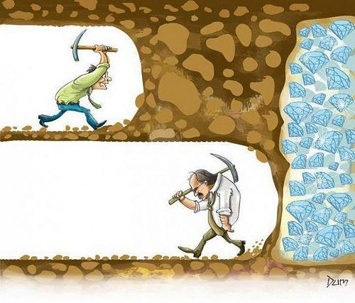 Kiên trì là hành trang quan trọng khi lon ton trong cuộc đời