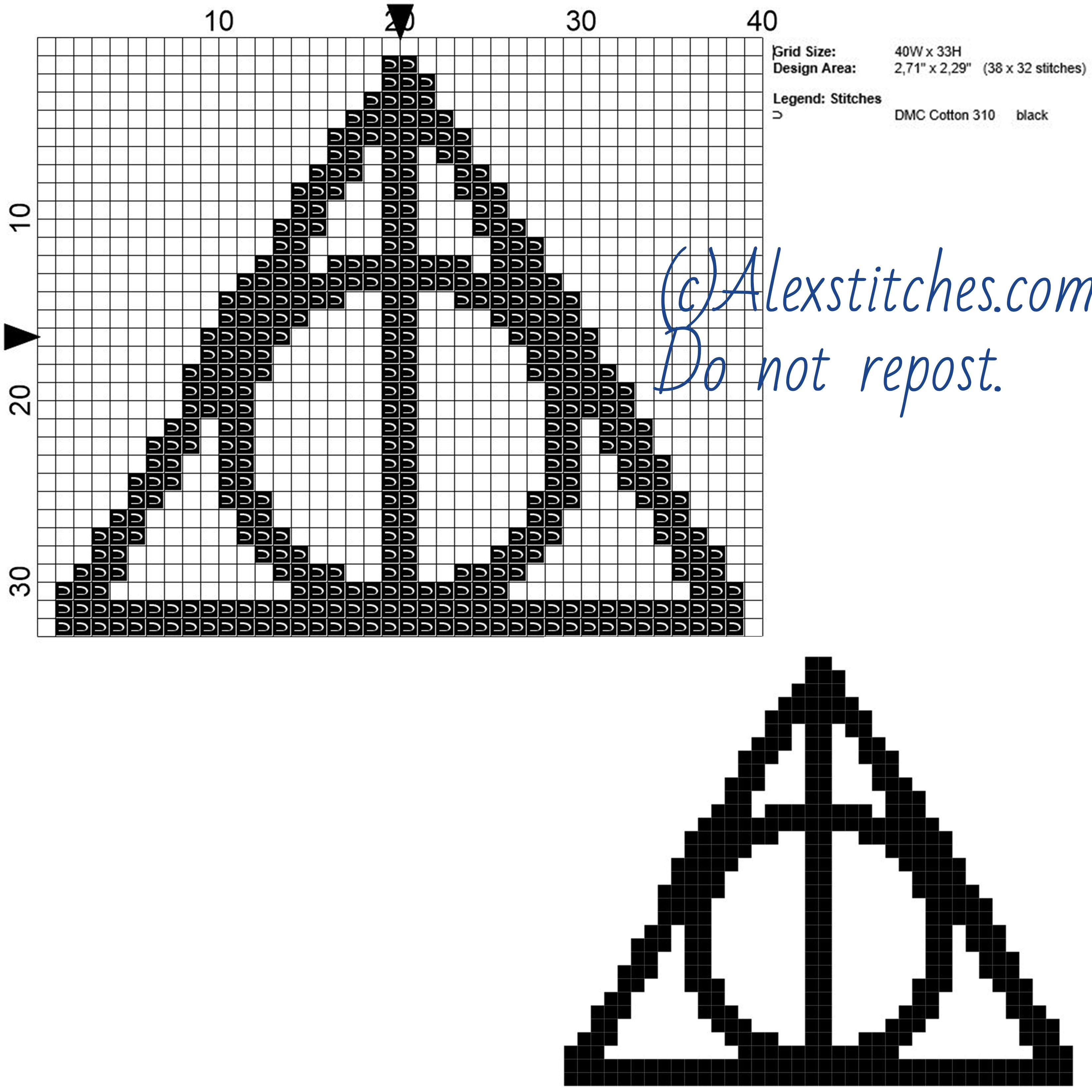 Гарри поттер схема вязания крючком