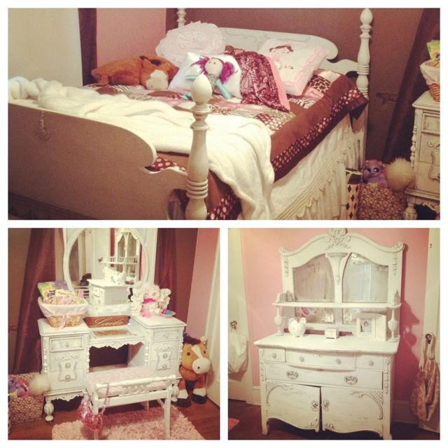 Shabby Chic Girls Room Vanity Pink Brown Quilt For My Georgia Peach Pinterest