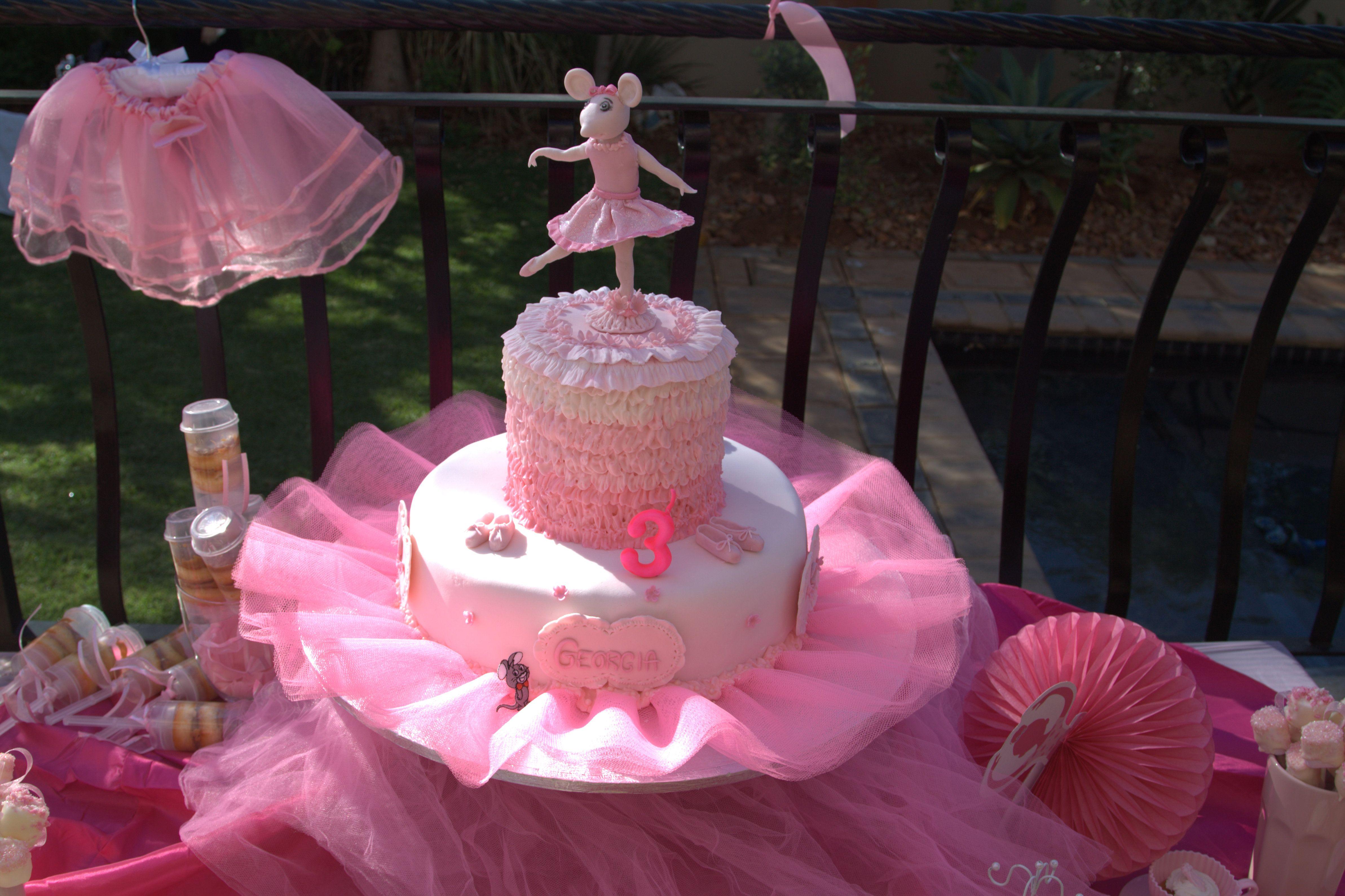 Angelina Ballerina birthday cake  Leahs first birthday ideas!(:  P ...