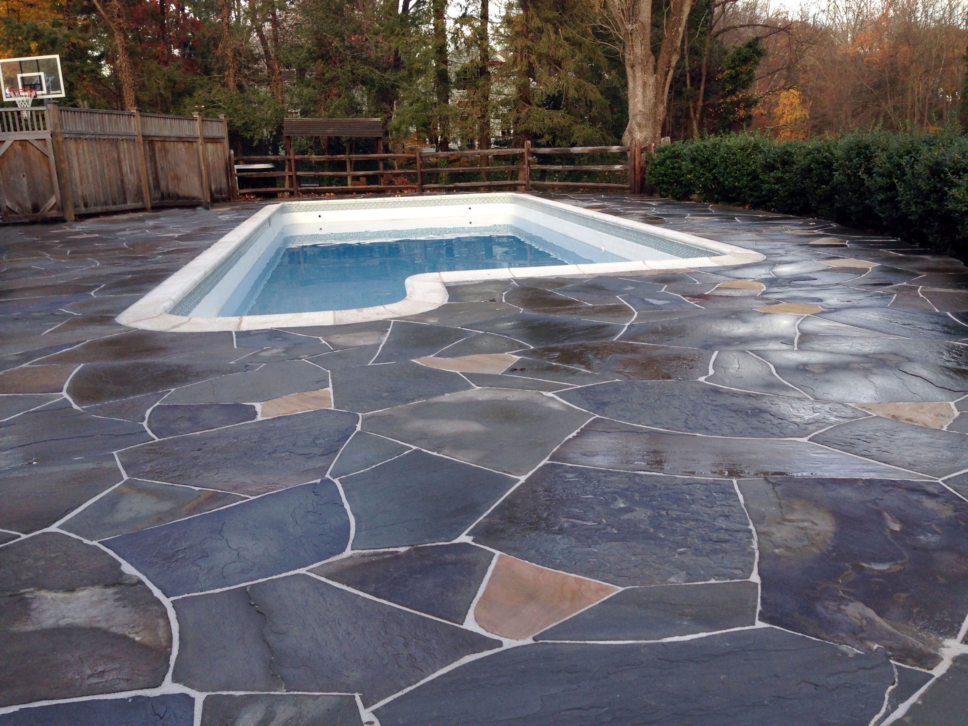 Irregular Flagstone Pool Deck Natural Stone Projects