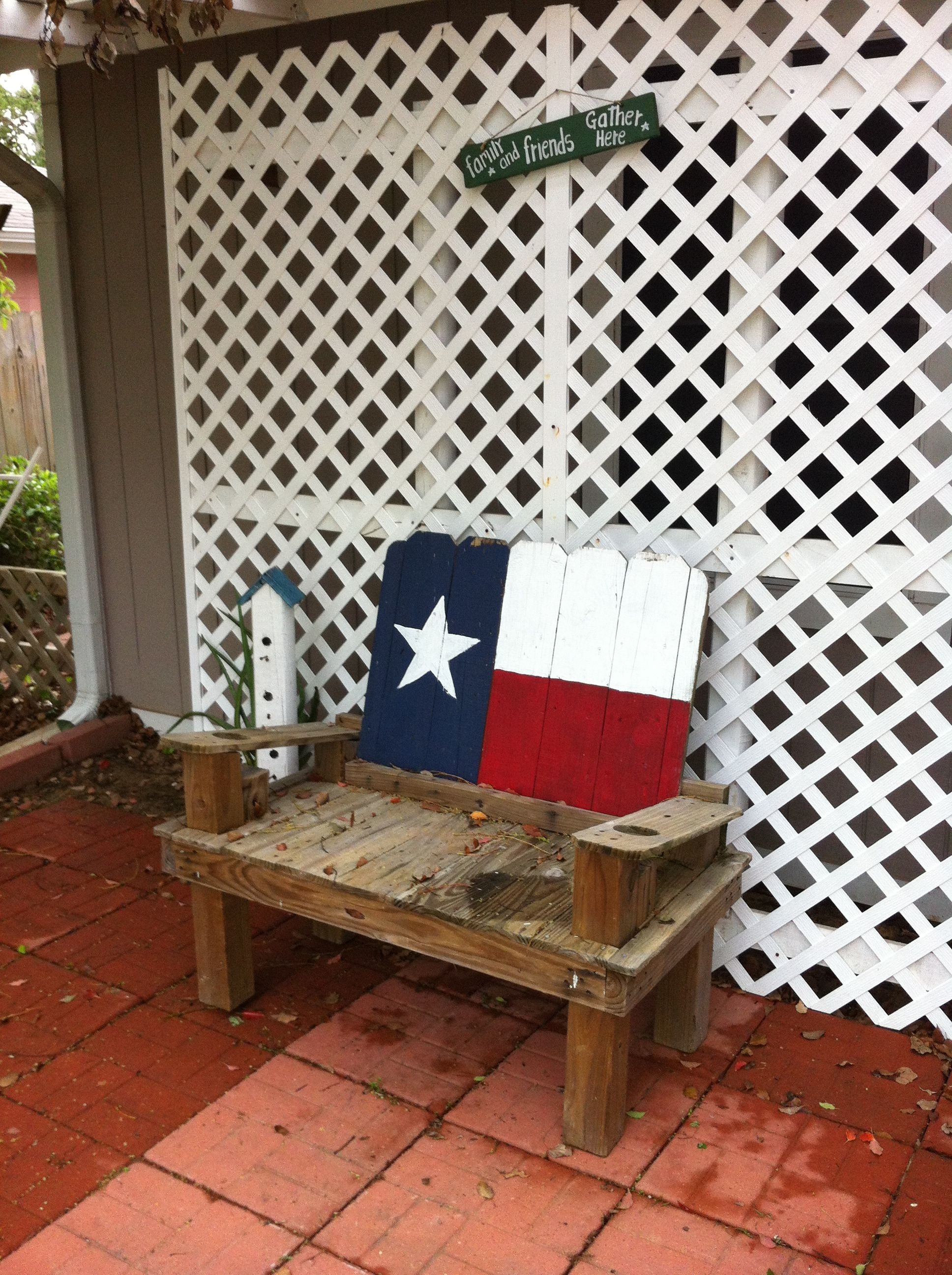 Texas Flags Made From Old Fence Boards