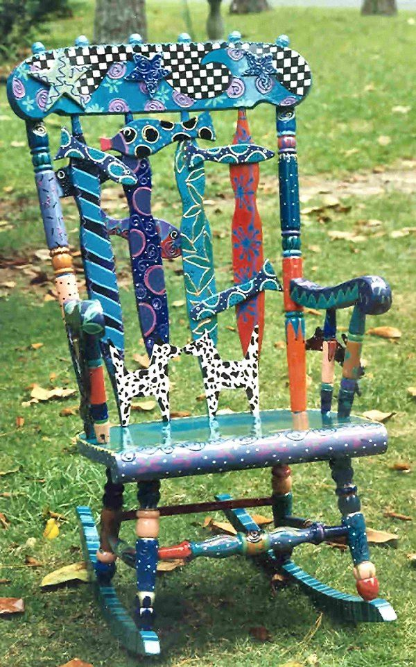 ideas for painting a rocking chair