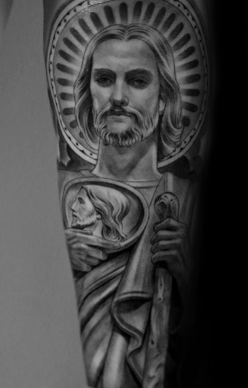 40 St Jude Tattoo Designs For Men – Religious Ink Ideas
