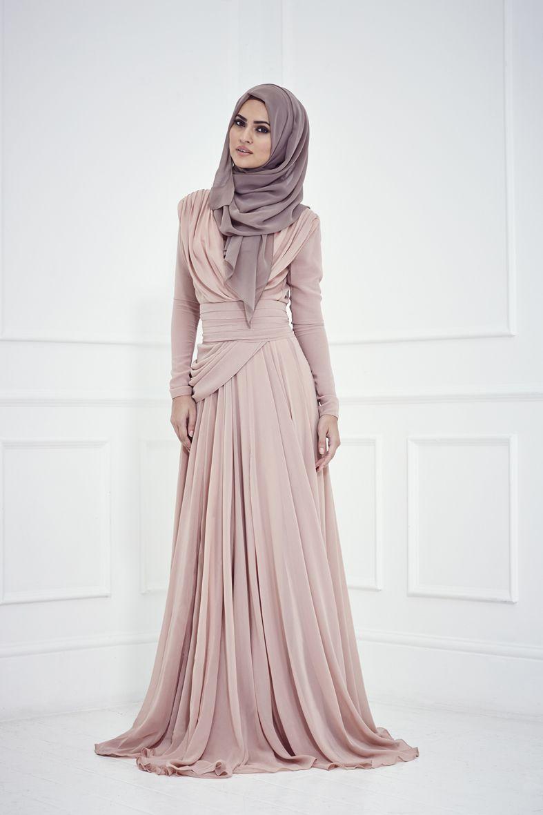 لباس پوشیده مجلسی اسلامی با پارچه لمه و ریون