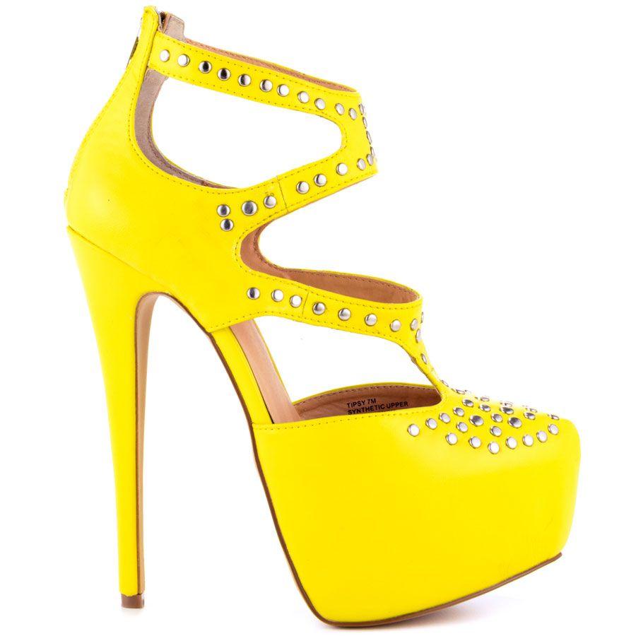 Yellow Stiletto Heels