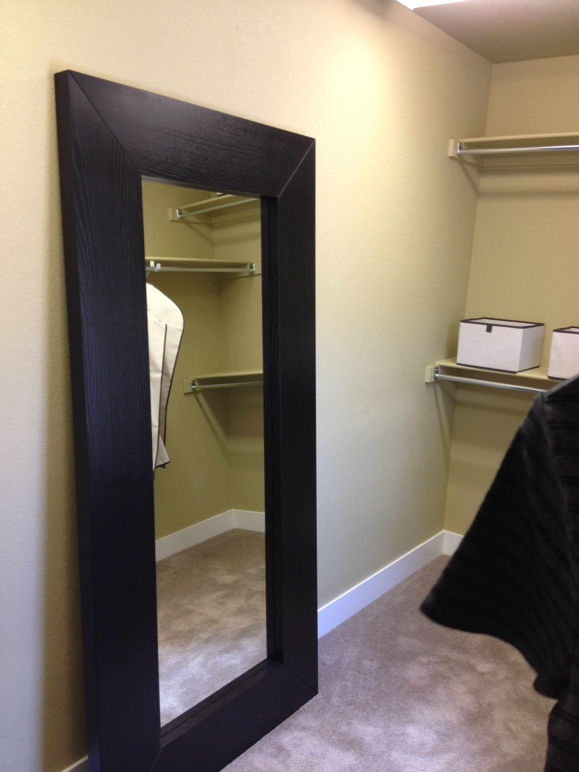 Standing mirror in walk in closet closet pinterest for Floor mirror italian baroque rococo style in lacquer finish