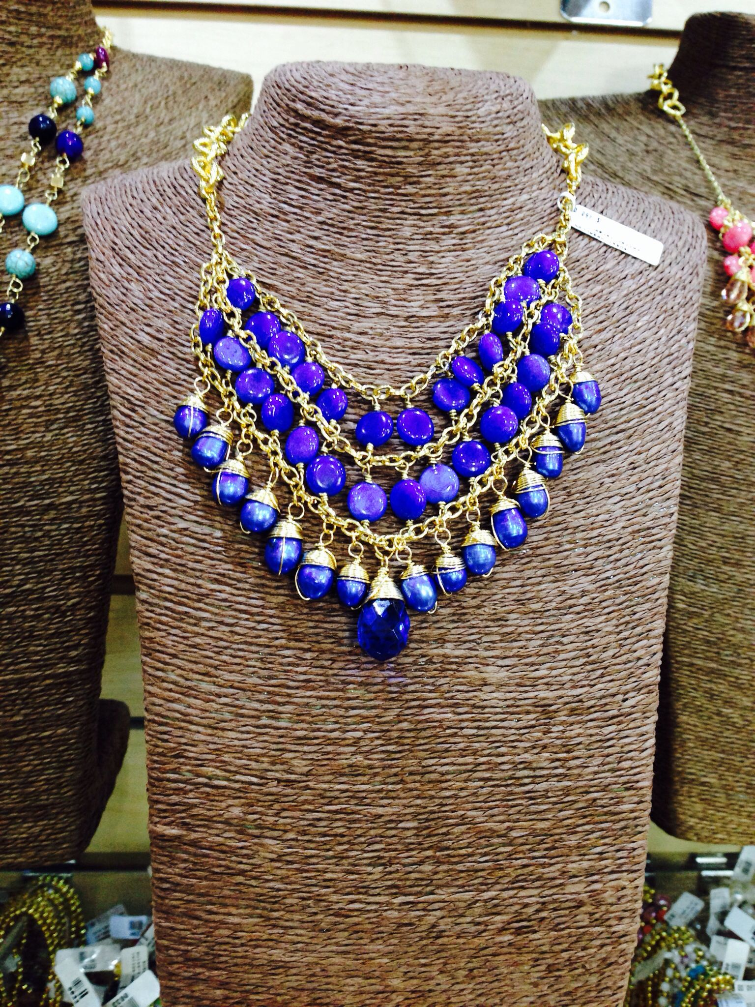 collares de piedras naturales joyas pinterest