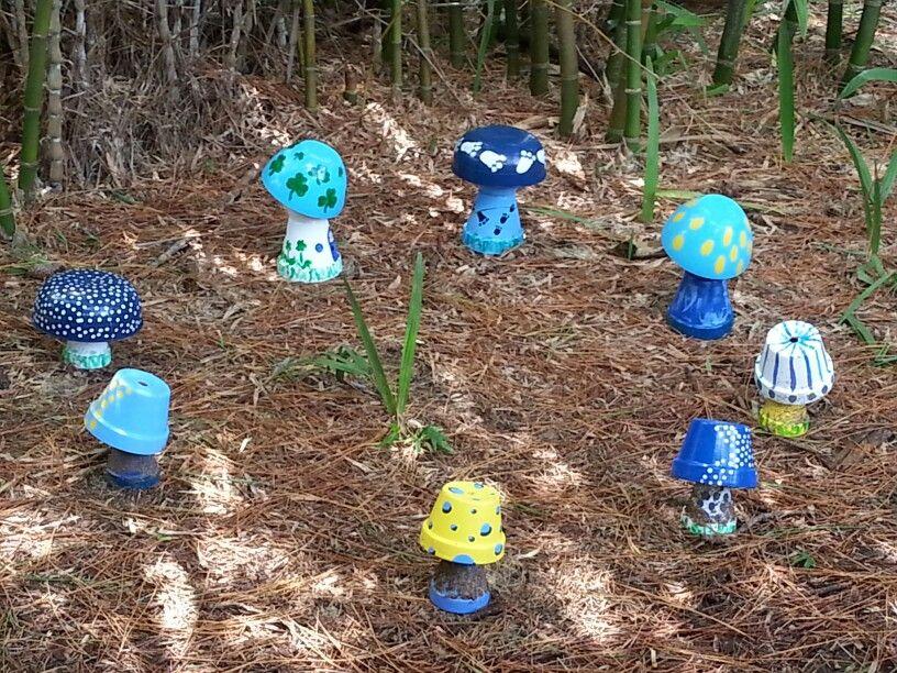 clay pot mushrooms so cute kids   crafts activities pinterest