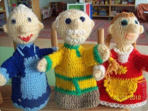 Игрушки для кукольного театра крючком