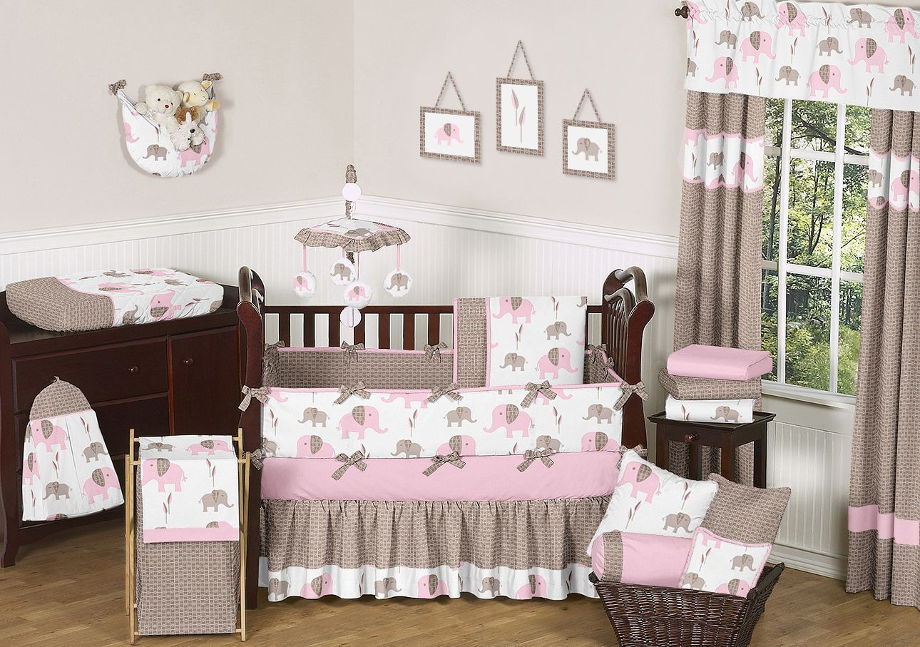 Pink And Gray Elephant Nursery House Stuff Pinterest