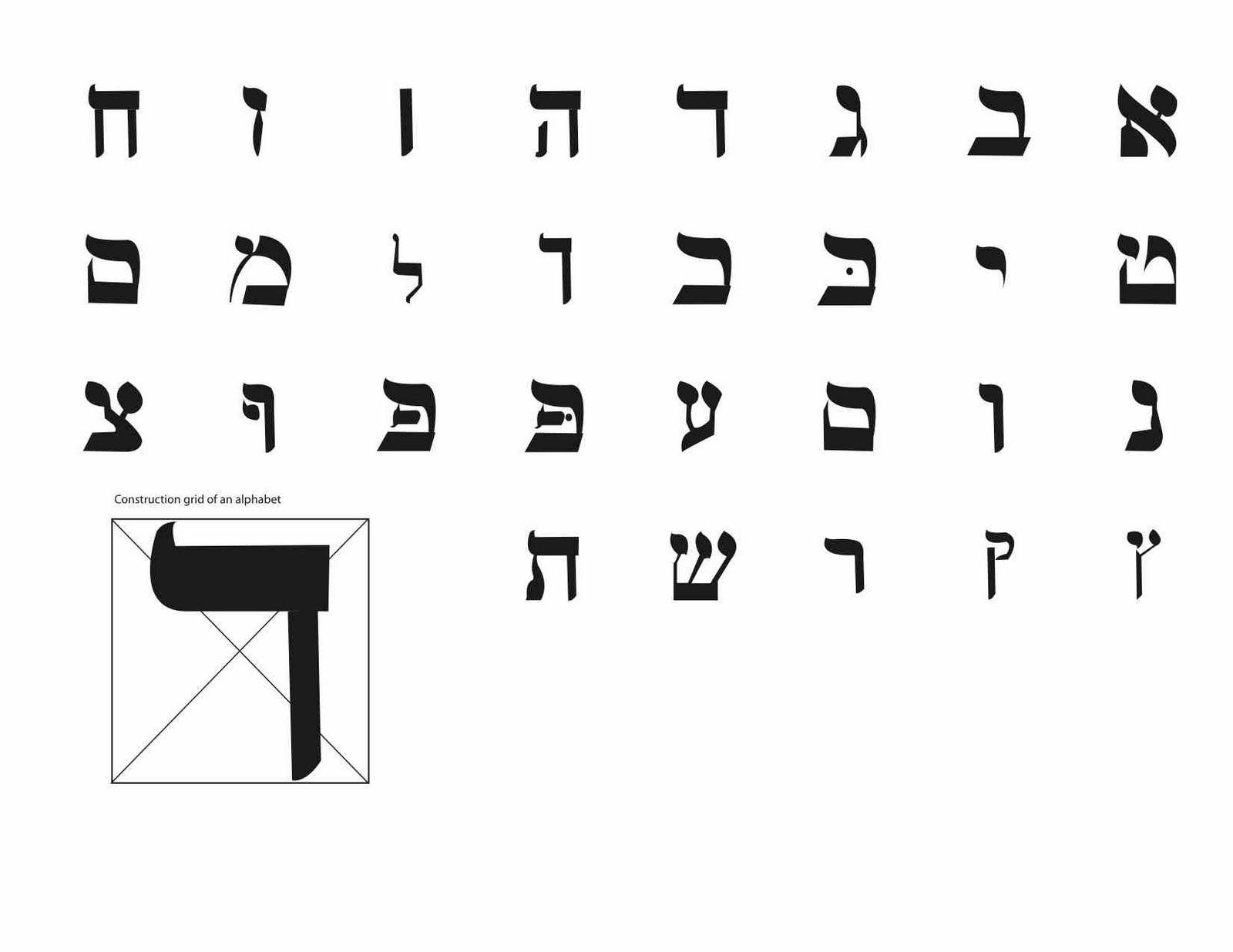 hebrew alphabet   HEBR...