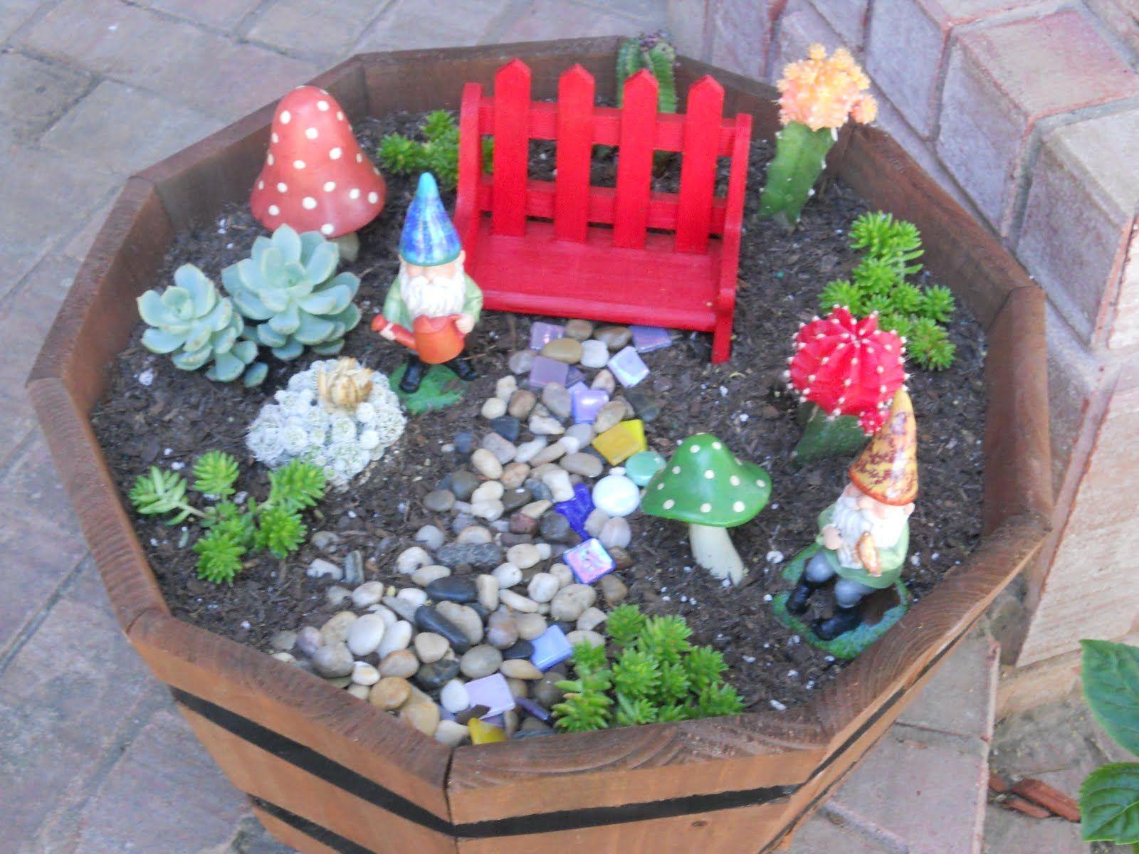 Mini Gnome Garden Garden Pinterest