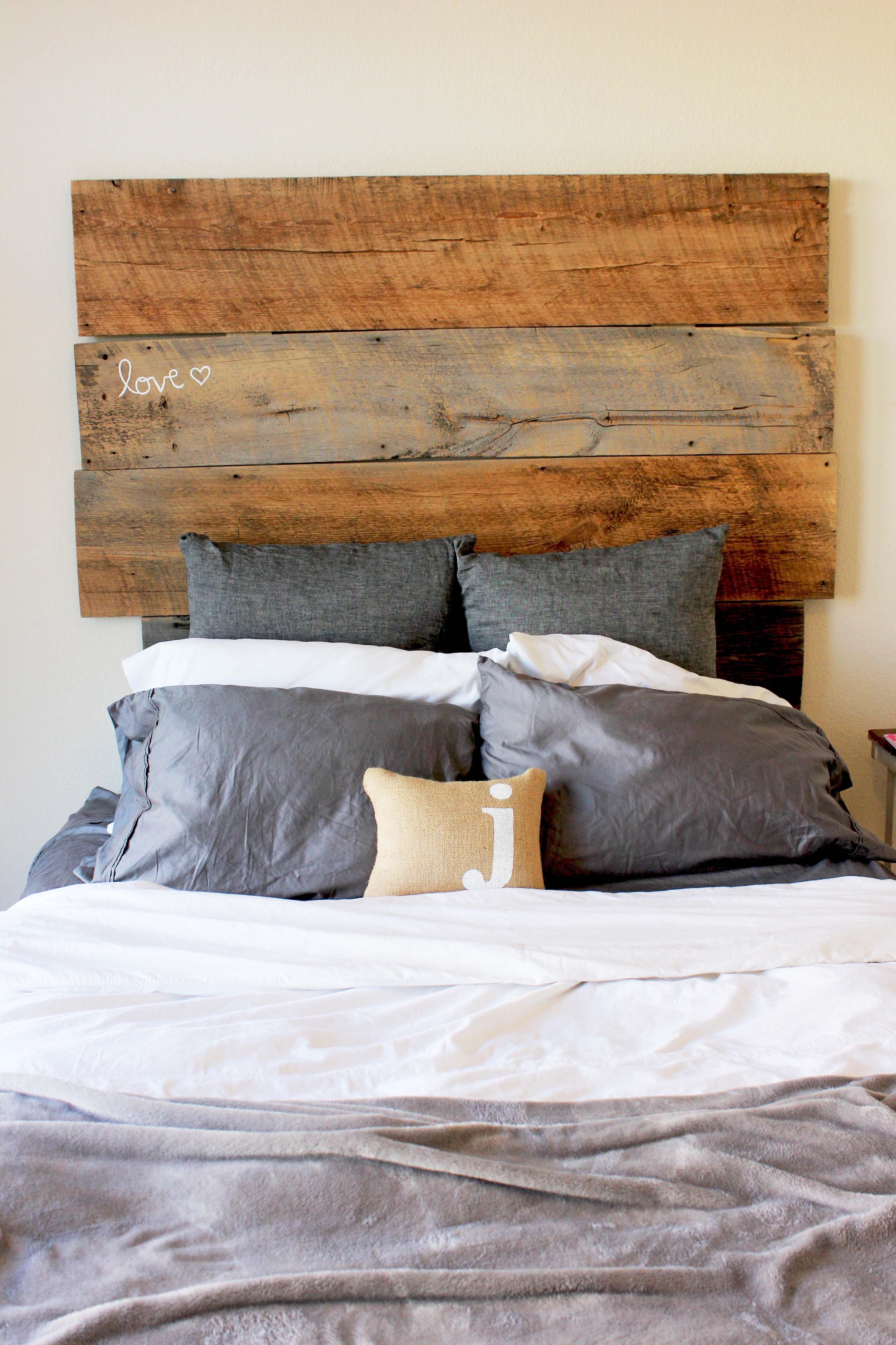 barn wood headboard woodworking