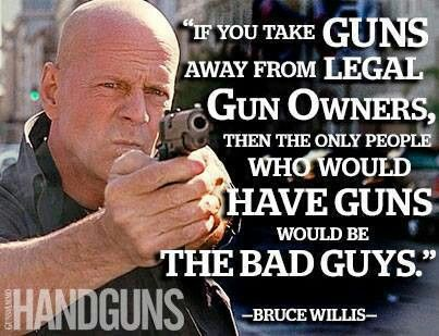 Bruce willis pro gun my country tis of thee pinterest